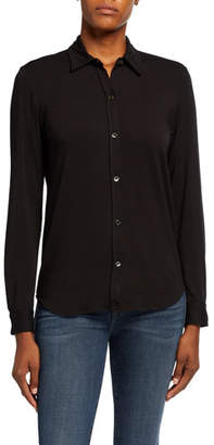 Neiman Marcus Majestic Paris for Soft Touch Long-Sleeve Button-Front Collared Shirt