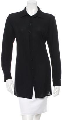 Jean Paul Gaultier Long Sleeve Button-Up Top $95 thestylecure.com