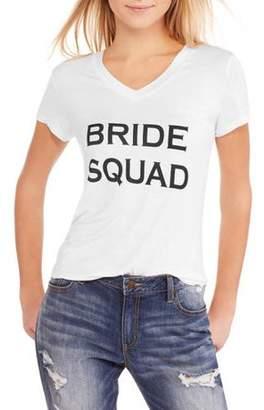 """Generic Women's Bachelorette Party """"Bride Squad"""" Hi-Lo V-Neck T-Shirt"""