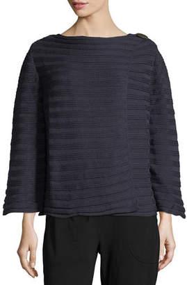Pure Handknit Summer Crush Ribbed Cardigan Sweater, Plus Size