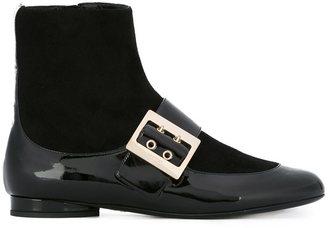 Lanvin two tone ankle boots $1,095 thestylecure.com