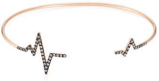 Diane Kordas Heartbeat 18kt Rose Gold Bracelet with White Diamonds