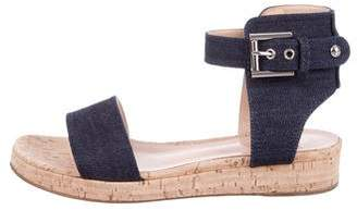 Gianvito Rossi Denim Cork Sandals