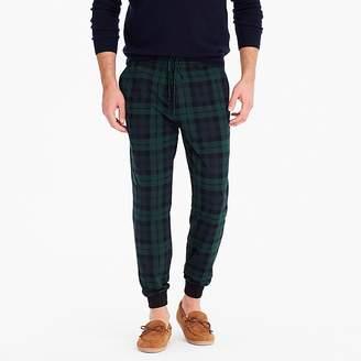 J.Crew Jersey pajama pant in Black Watch plaid