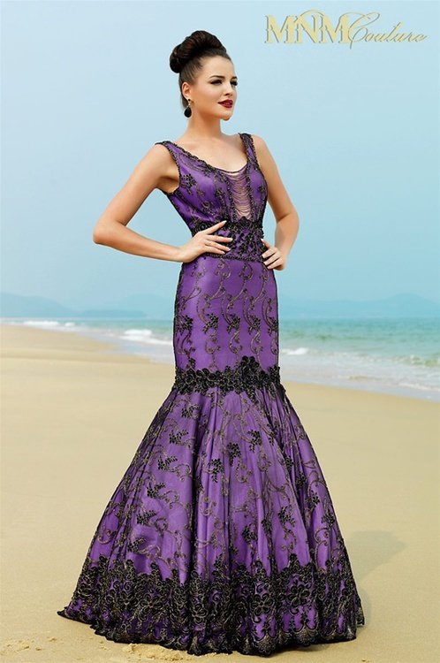 MNM COUTURE - KH012 in Black/Purple
