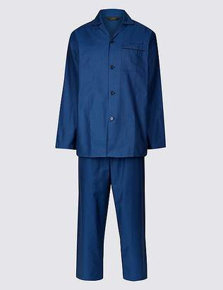 Marks and Spencer Big & Tall Pure Cotton Herringbone Pyjama Set