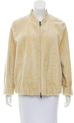 Brunello Cucinelli Leather & Shearling Reversible Jacket w/ Tags