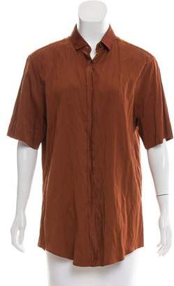 Lanvin Short Sleeve Button-Up Top w/ Tags