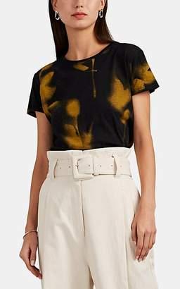 Proenza Schouler Women's Rose-Print Cotton T-Shirt - Yellow