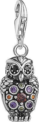 Thomas Sabo Charm Club sterling silver multistone owl charm