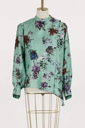 Each X Other Asymmetric floral print blouse