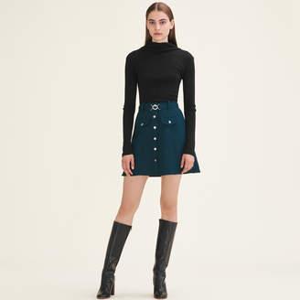 Maje Trapeze skirt with belt