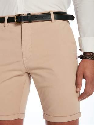 Scotch & Soda Leather Belt With Contrast