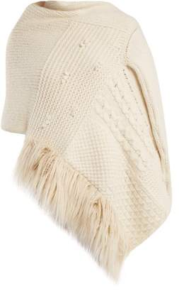 Simone Rocha Patchwork Wool Blend Cardigan Wrap - Womens - Ivory