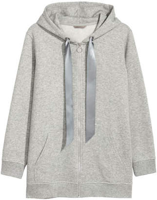 H&M H&M+ Hooded Sweatshirt Jacket - Gray
