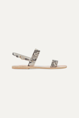 Ancient Greek Sandals Clio Snake-effect Leather Sandals - Snake print