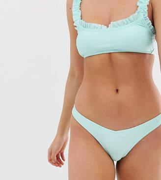 8712cc30ce6f0 New Look frill bikini bottom in mint green