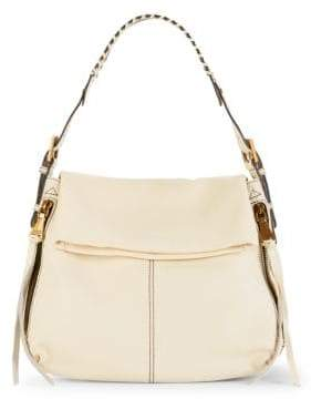 Penelope Pebbled-Leather Hobo Bag