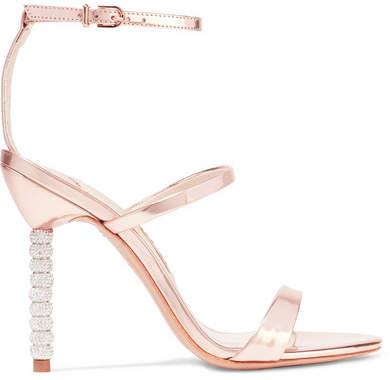 Sophia Webster - Rosalind Crystal-embellished Metallic Leather Sandals