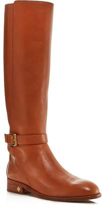 8e37f85df53d9 Tory Burch Women s Brooke Round Toe Leather Riding Boots