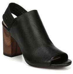 Franco Sarto Opaline Block Heel Leather Slingback Sandals