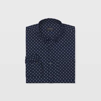Club Monaco Slim Anchor Print Shirt