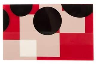 Stella McCartney Abstract Pattern Box Clutch Red Abstract Pattern Box Clutch