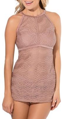 Smart & Sexy Women's Bra-Sized Crochet Halter Tankini Top