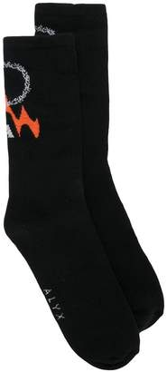 1017 Alyx 9SM logo embroidered socks