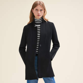 Maje Straight-cut wool coat