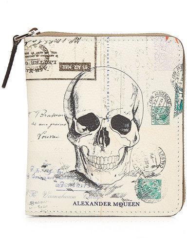 Alexander McQueenAlexander McQueen Printed Leather Compact Zip Wallet