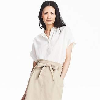 Uniqlo Women's Linen Blended Short-sleeve Blouse