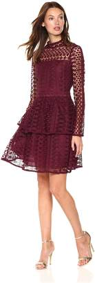 Cupcakes And Cashmere Women's Symona Ruffle Lace Dress
