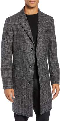 Nordstrom Signature Madison Plaid Wool Blend Overcoat