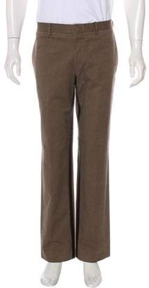 Hermes Leather-Trimmed Dress Pants