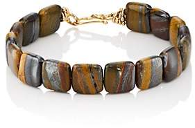 Dean Harris Men's Tiger Iron Beaded Bracelet - Brown