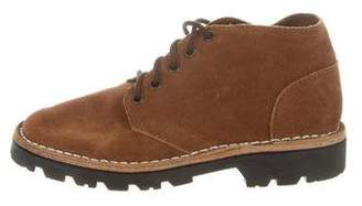Brother Vellies Suede Lace-Up Booties