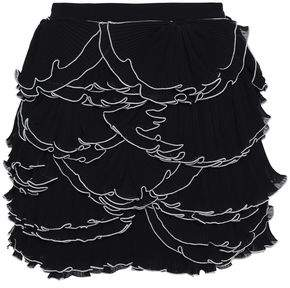 Moschino Ruffled Tiered Georgette Mini Skirt
