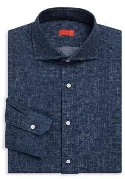 Isaia Contemporary Fit Denim Dress Shirt
