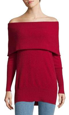 Lord & Taylor Off-The-Shoulder Cashmere Sweater