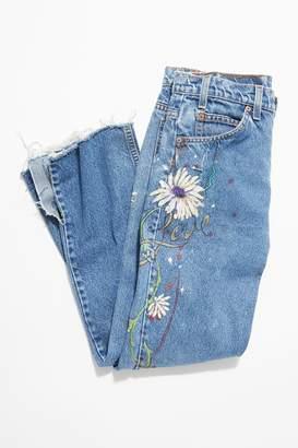 Vintage Loves Vintage Handpainted Jeans by Mary Fragapane