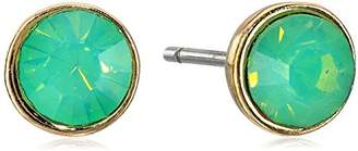 "lonna & lilly Classics"" Gold-Tone/ Button Stud Earrings"