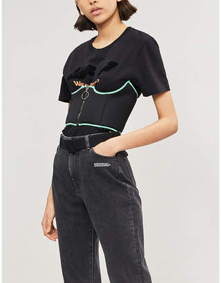 Off-White Piped woven corset