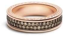 David Yurman Streamline Two-Row Band Ring With Cognac Diamonds In 18K