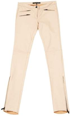 Barbara Bui Pink Leather Trousers for Women