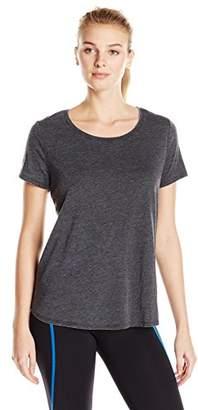 Lark & Ro Women's Active Scoop Neck Super Wash T-Shirt