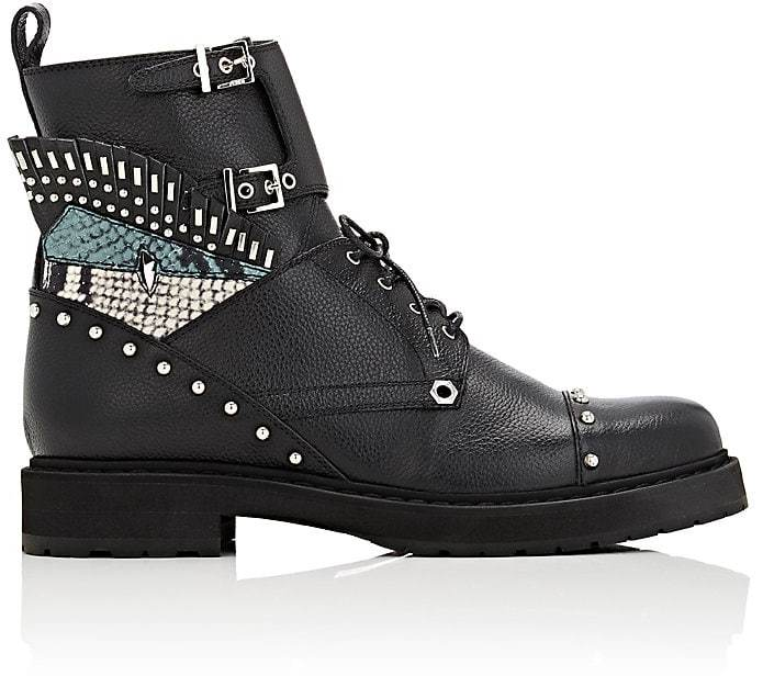 Fendi Women's Buggies-Eye Leather Combat Boots