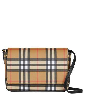 Burberry Hampshire Vintage Check Crossbody Bag