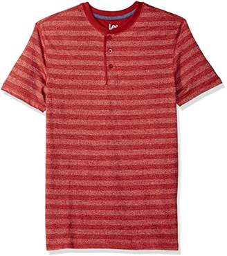 Lee Men's Tall Size Short Sleeve Striped Fashion Henley