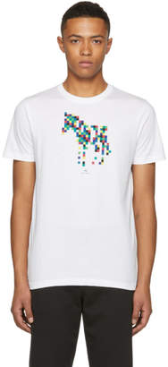 Paul Smith White Slim Fit Zebra T-Shirt